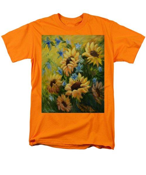 Sunflowers Galore Men's T-Shirt  (Regular Fit) by Joanne Smoley