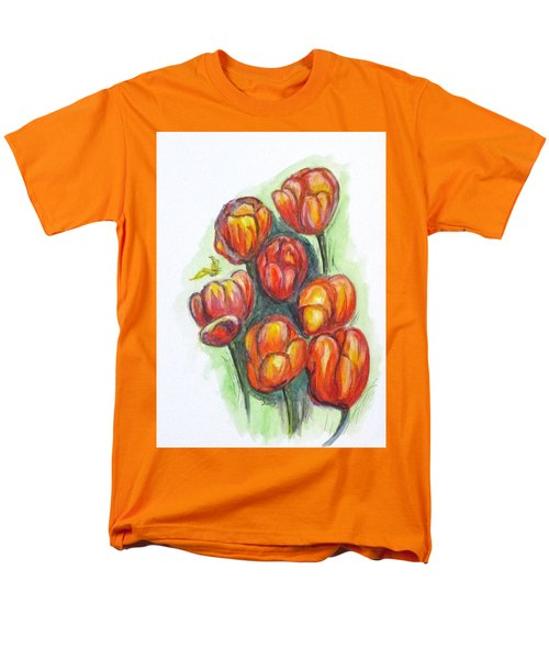 Spring Tulips Men's T-Shirt  (Regular Fit) by Clyde J Kell