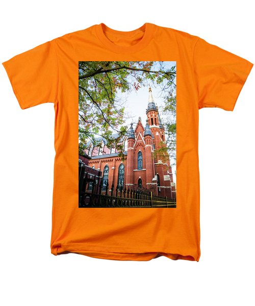 Men's T-Shirt  (Regular Fit) featuring the photograph St Paul's Cathedral In Downtown Birmingham by Shelby Young