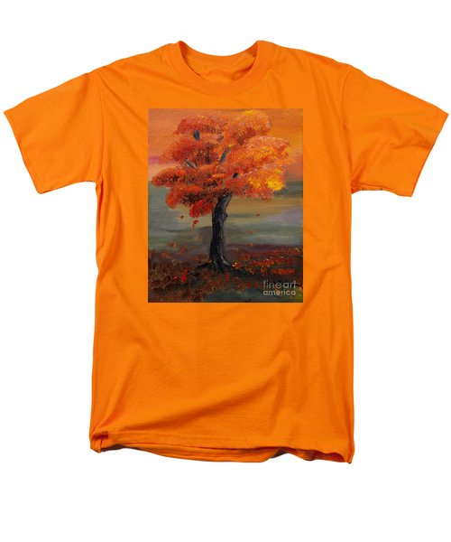 Stand Alone In Color - Autumn - Tree Men's T-Shirt  (Regular Fit) by Jan Dappen