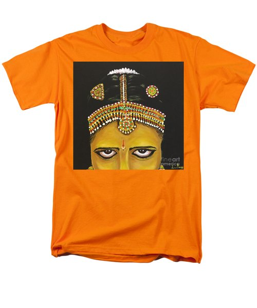 Men's T-Shirt  (Regular Fit) featuring the painting Stare by Brindha Naveen