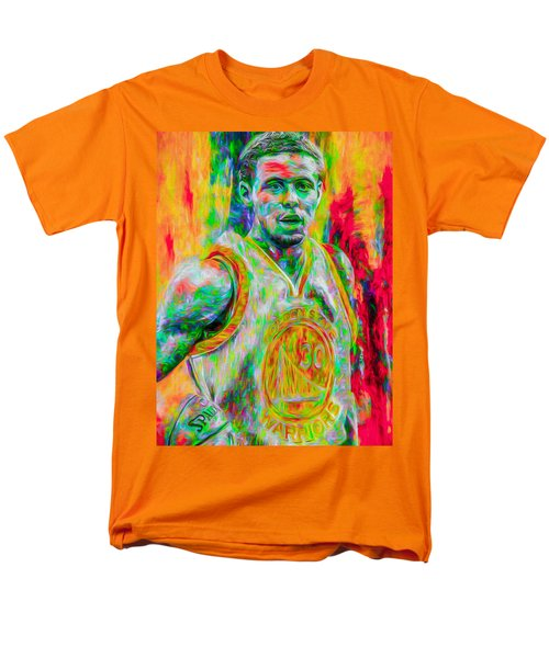 Stephen Curry Golden State Warriors Digital Painting Men's T-Shirt  (Regular Fit) by David Haskett