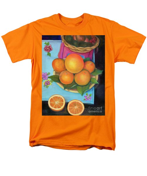 Still Life Oranges And Grapefruit Men's T-Shirt  (Regular Fit) by Marlene Book