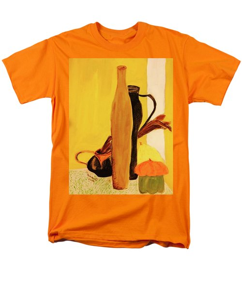 Men's T-Shirt  (Regular Fit) featuring the pastel Still Life With Pumpkins  by Manuela Constantin