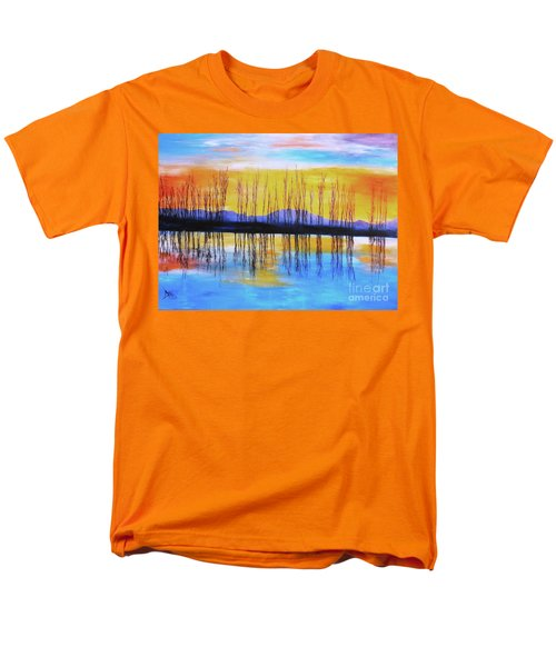 Men's T-Shirt  (Regular Fit) featuring the painting Still Waters From The Water Series  by Donna Dixon