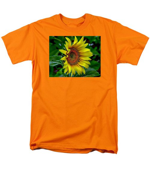 Straight Up Sunflower Men's T-Shirt  (Regular Fit) by Karen McKenzie McAdoo
