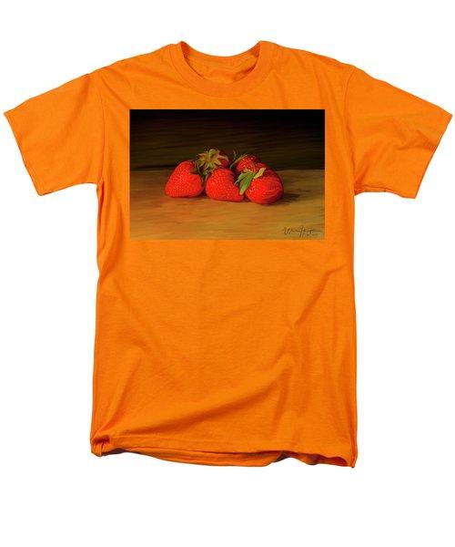 Strawberries 01 Men's T-Shirt  (Regular Fit) by Wally Hampton