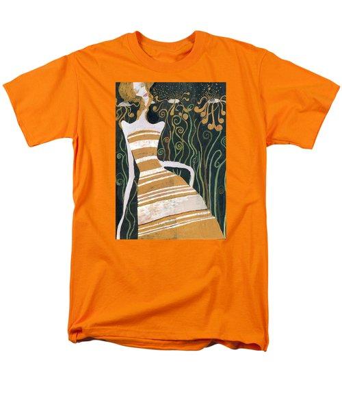 Men's T-Shirt  (Regular Fit) featuring the painting Stripe Dress by Maya Manolova