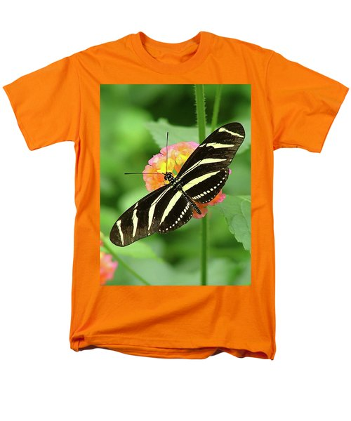 Striped Butterfly Men's T-Shirt  (Regular Fit) by Wendy McKennon