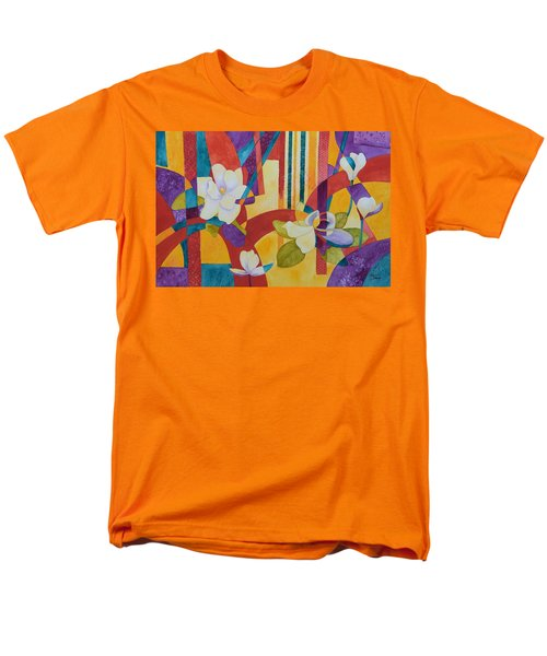 Men's T-Shirt  (Regular Fit) featuring the painting Summer Magnolias by Nancy Jolley