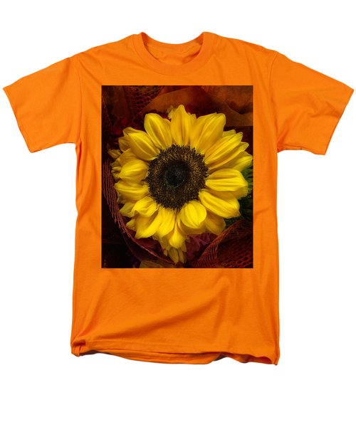 Men's T-Shirt  (Regular Fit) featuring the photograph Sun In The Flower by Arlene Carmel