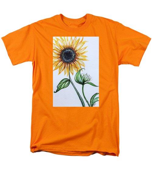 Sunflower Botanical Men's T-Shirt  (Regular Fit) by Elizabeth Robinette Tyndall