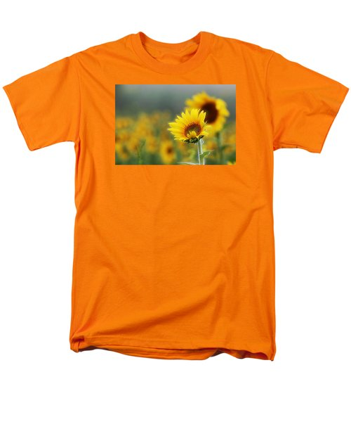 Sunflower Field Men's T-Shirt  (Regular Fit) by Karen McKenzie McAdoo