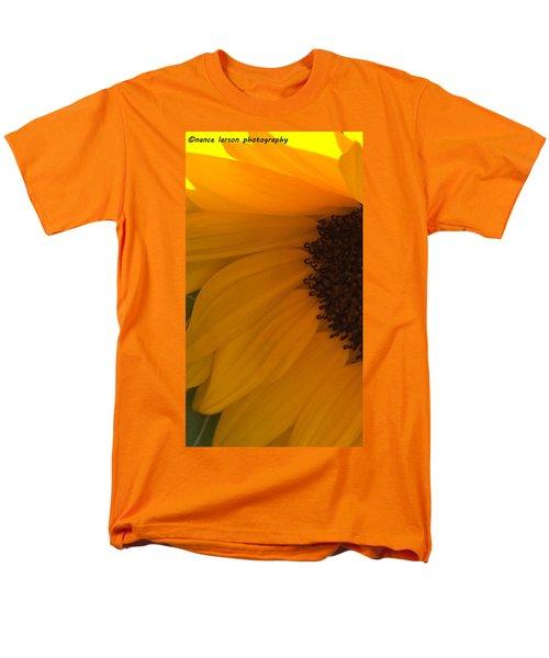 Sunflower Macro Men's T-Shirt  (Regular Fit) by Nance Larson