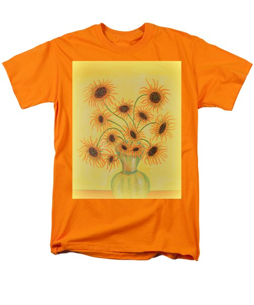 Sunflowers Men's T-Shirt  (Regular Fit) by Marie Schwarzer