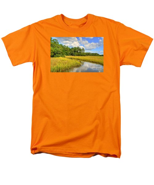 Sunlit Marsh Men's T-Shirt  (Regular Fit) by Kathy Baccari