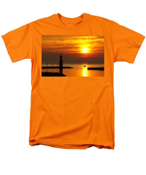 Sunrise Brushstrokes Men's T-Shirt  (Regular Fit)