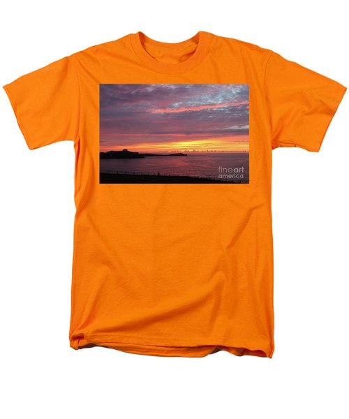 Men's T-Shirt  (Regular Fit) featuring the photograph Sunset Clouds In Newquay Cornwall by Nicholas Burningham