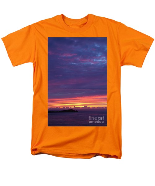 Men's T-Shirt  (Regular Fit) featuring the photograph Sunset Clouds In Newquay, Uk by Nicholas Burningham