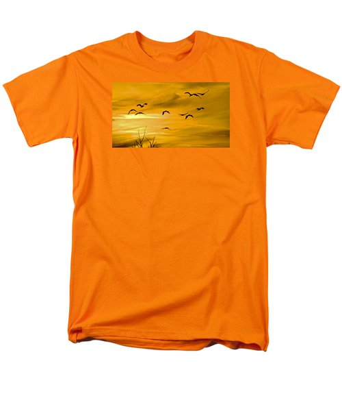 Sunset Fliers Men's T-Shirt  (Regular Fit) by Wanda Krack