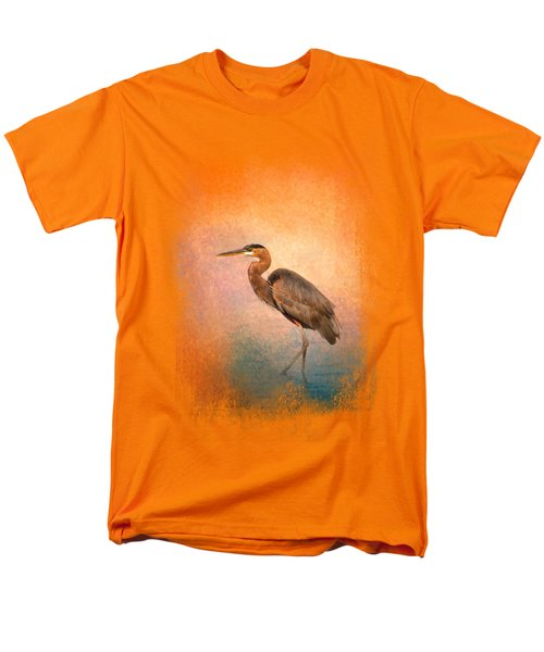 Sunset Heron Men's T-Shirt  (Regular Fit) by Jai Johnson