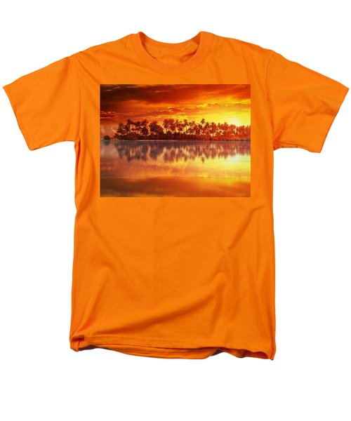 Sunset In Paradise Men's T-Shirt  (Regular Fit) by Gabriella Weninger - David
