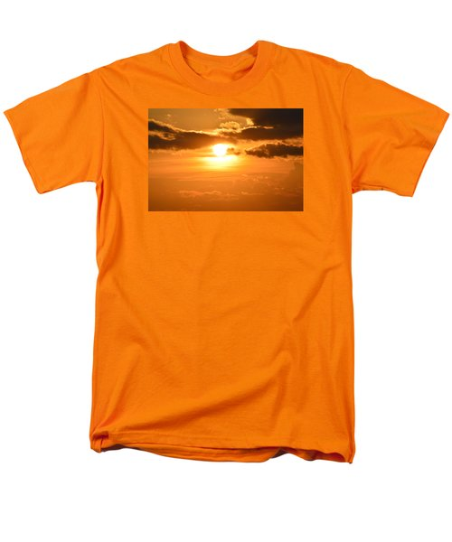 Men's T-Shirt  (Regular Fit) featuring the photograph Sunset In The Clouds  by Lyle Crump