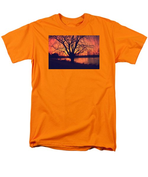 Sunset On Willow Pond Men's T-Shirt  (Regular Fit) by Kathy M Krause