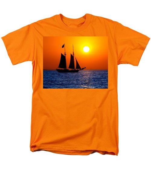 Sunset Sailing In Key West Florida Men's T-Shirt  (Regular Fit) by Michael Bessler