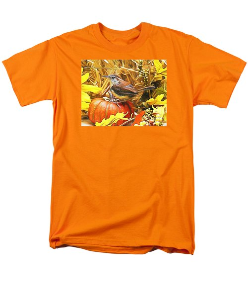 Sweet Carolina Wren Men's T-Shirt  (Regular Fit) by Tina  LeCour