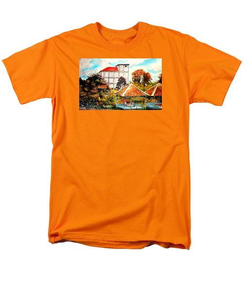 Men's T-Shirt  (Regular Fit) featuring the painting Swifts  Nest's Building by Jason Sentuf