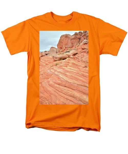 Men's T-Shirt  (Regular Fit) featuring the photograph Swirling Sandstone Color In Valley Of Fire by Ray Mathis