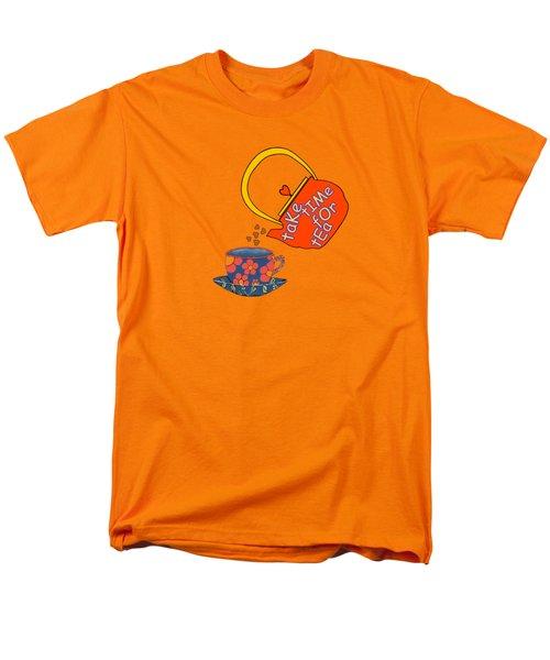 Take Time For Tea Men's T-Shirt  (Regular Fit)
