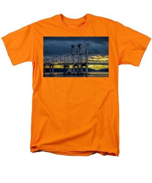 Tale Of 2 Bridges At Sunset Men's T-Shirt  (Regular Fit) by Jeffrey Friedkin