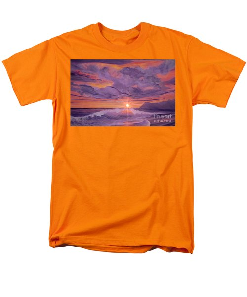 Men's T-Shirt  (Regular Fit) featuring the painting Tangerine Sky by Holly Martinson