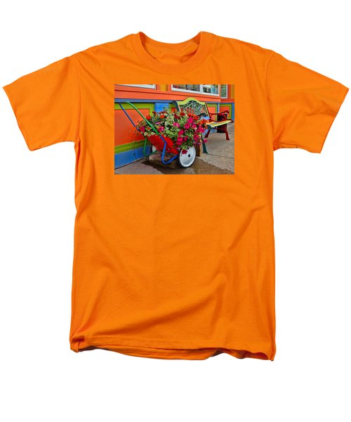 Tannersville Color Blast Men's T-Shirt  (Regular Fit) by Nancy De Flon