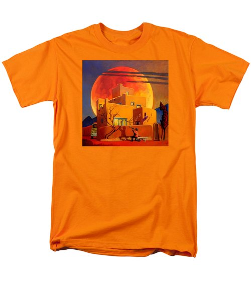 Men's T-Shirt  (Regular Fit) featuring the painting Taos Wolf Moon by Art West