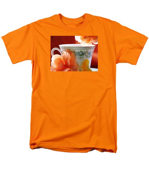 Men's T-Shirt  (Regular Fit) featuring the photograph Tea In The Garden by Angela Davies