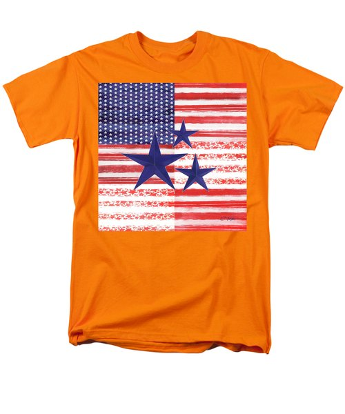 Men's T-Shirt  (Regular Fit) featuring the photograph The Americana Flag by Colleen Taylor