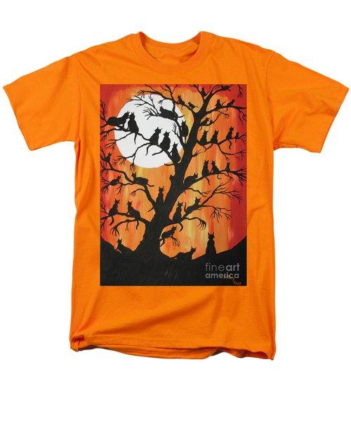 The Cats On Night Watch Men's T-Shirt  (Regular Fit) by Jeffrey Koss