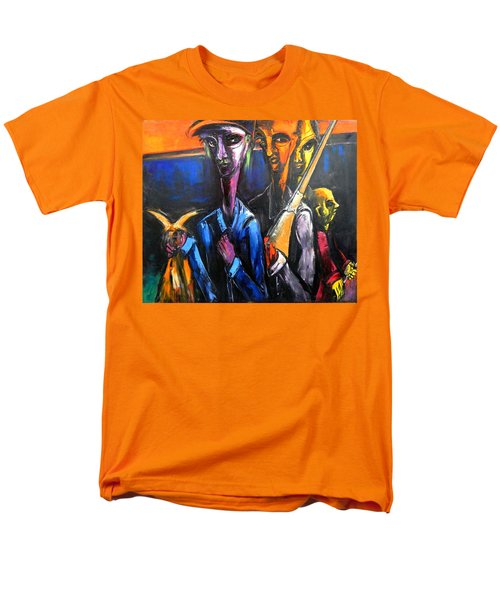 Men's T-Shirt  (Regular Fit) featuring the painting The Hunters by Kenneth Agnello