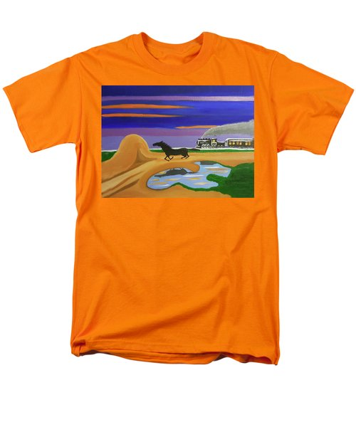 Men's T-Shirt  (Regular Fit) featuring the painting The Night Race by Margaret Harmon