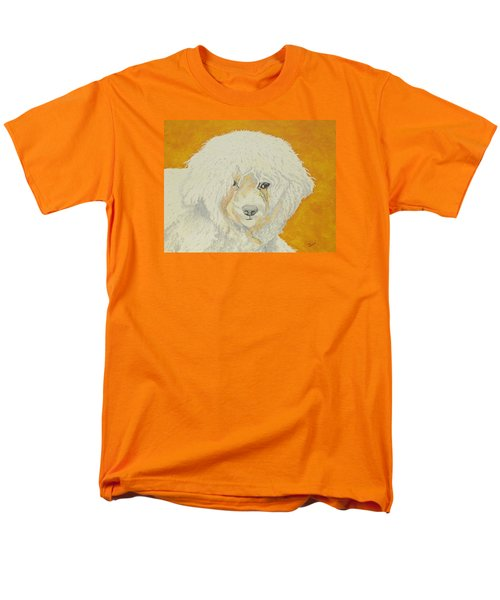 Men's T-Shirt  (Regular Fit) featuring the painting The Old Poodle by Hilda and Jose Garrancho