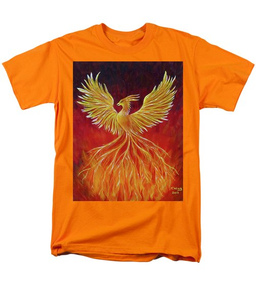 Men's T-Shirt  (Regular Fit) featuring the painting The Phoenix by Teresa Wing