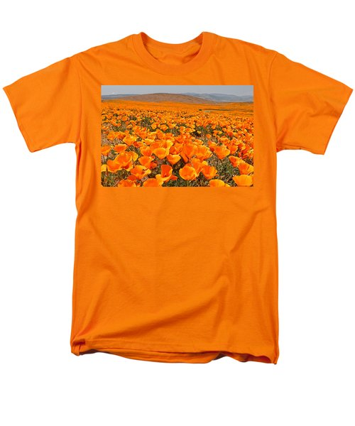 The Poppy Fields - Antelope Valley Men's T-Shirt  (Regular Fit) by Peter Tellone