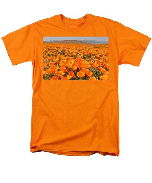 The Poppy Fields - Antelope Valley Men's T-Shirt  (Regular Fit) by Peter Tellone
