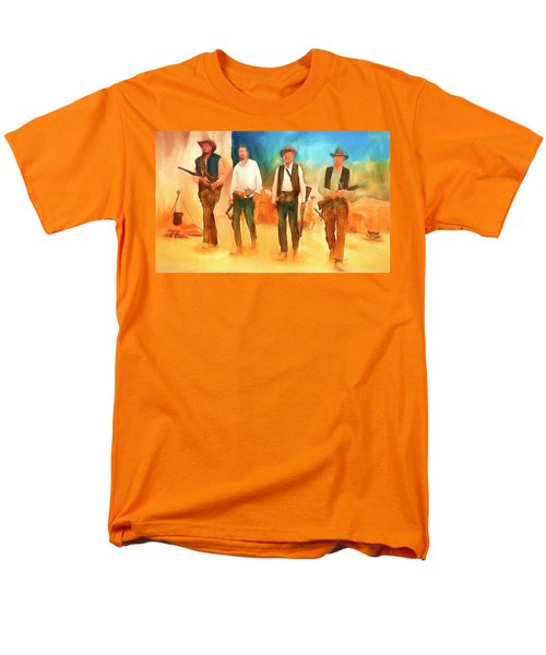 Men's T-Shirt  (Regular Fit) featuring the painting The Wild Bunch by Michael Cleere