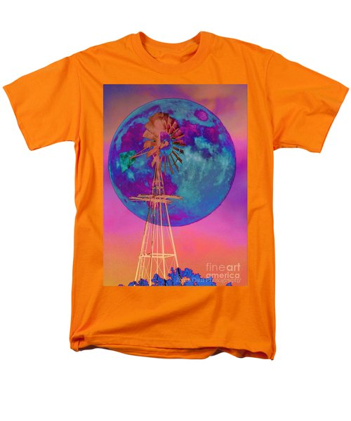 The Windmill And Moon In A Sherbet Sky Men's T-Shirt  (Regular Fit) by Toma Caul