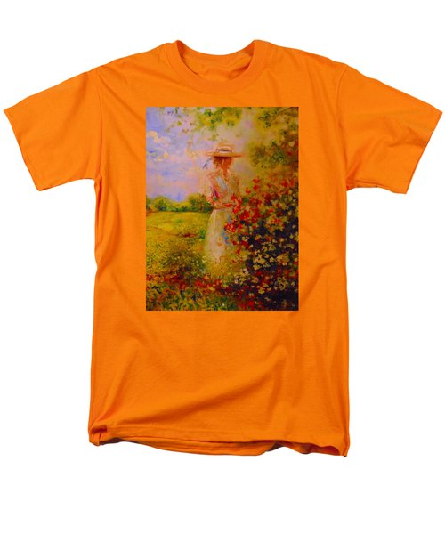 Men's T-Shirt  (Regular Fit) featuring the painting This Is A Good View by Emery Franklin