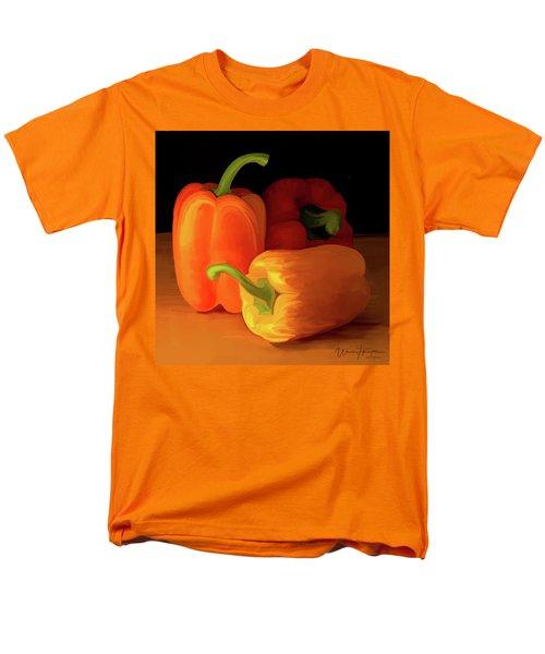 Three Peppers 01 Men's T-Shirt  (Regular Fit) by Wally Hampton